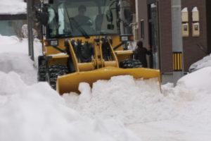 除雪作業中の様子