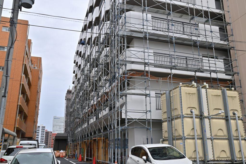 マンション建設中の様子