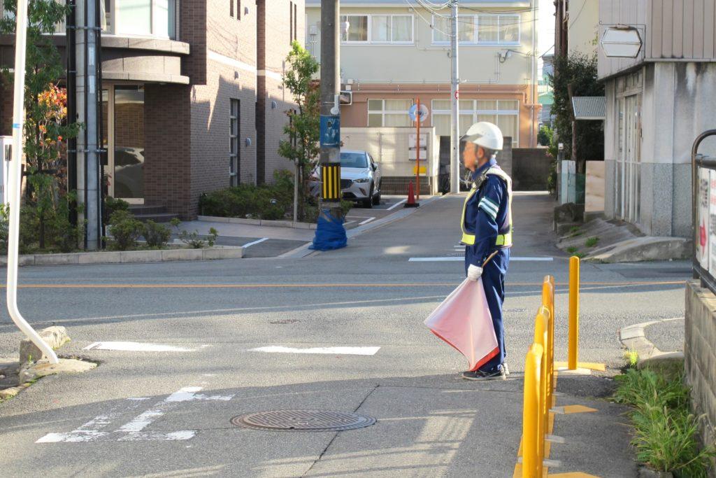 交通誘導の警備員