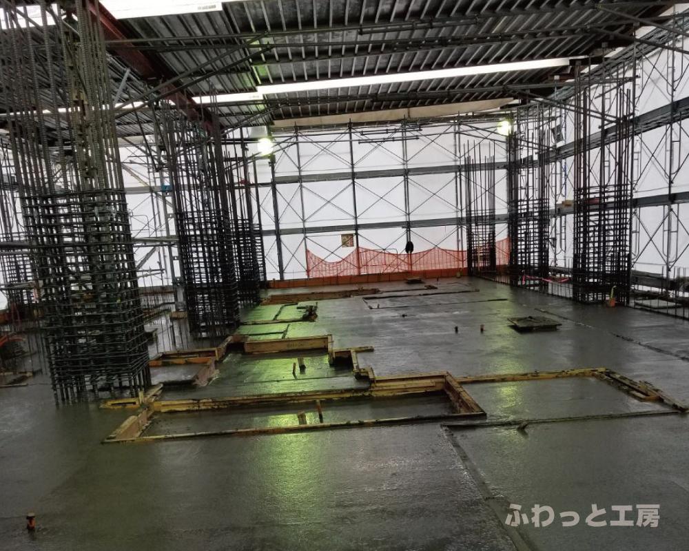 型枠大工工事の現場写真
