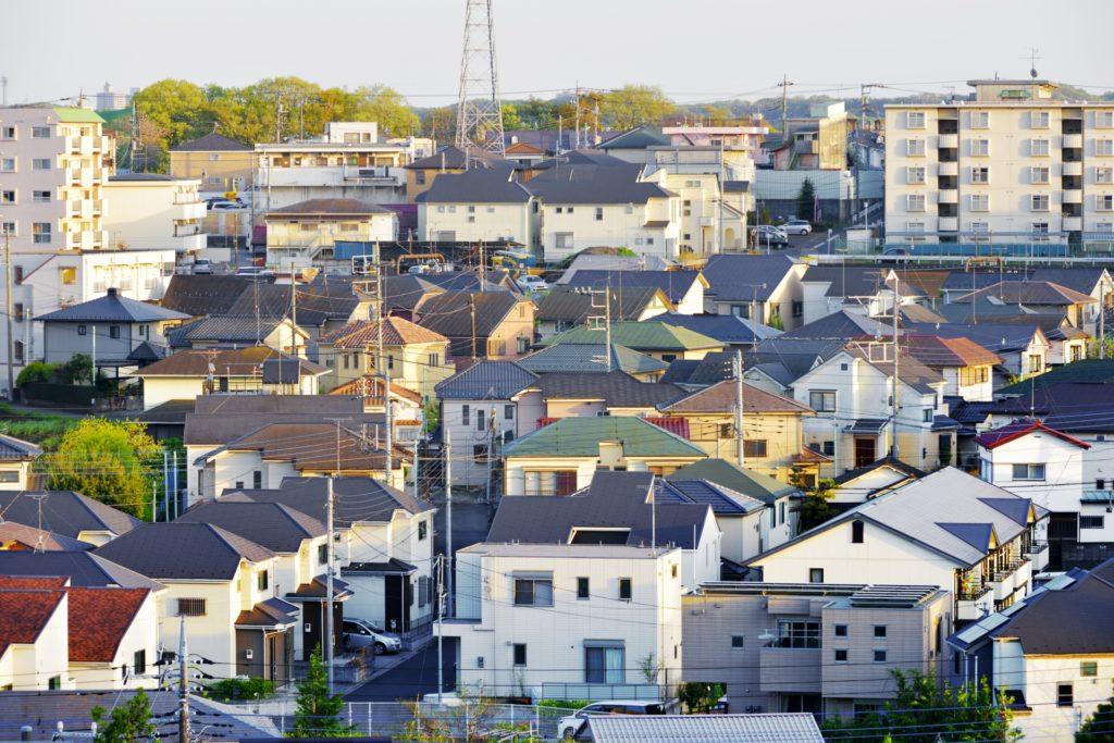 上から見た住宅街