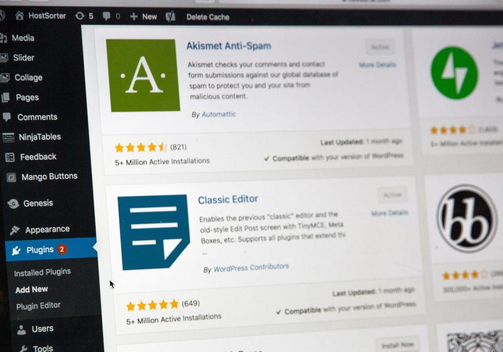 ワードプレス管理画面のプラグイン検索