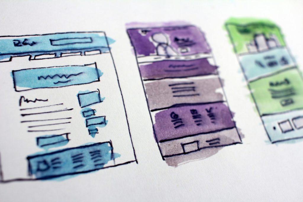 ホームページデザイン、プロット