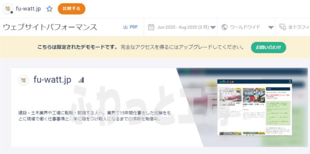 SimilarWebの分析画面キャプチャ画像
