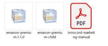 Emanon Premiumを購入してダウンロードできるファイル一覧