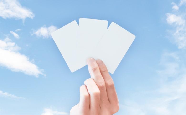 3枚のカードから選ぶ